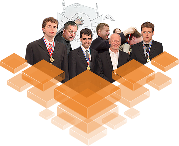 Professor Diks with his team ofprogrammers